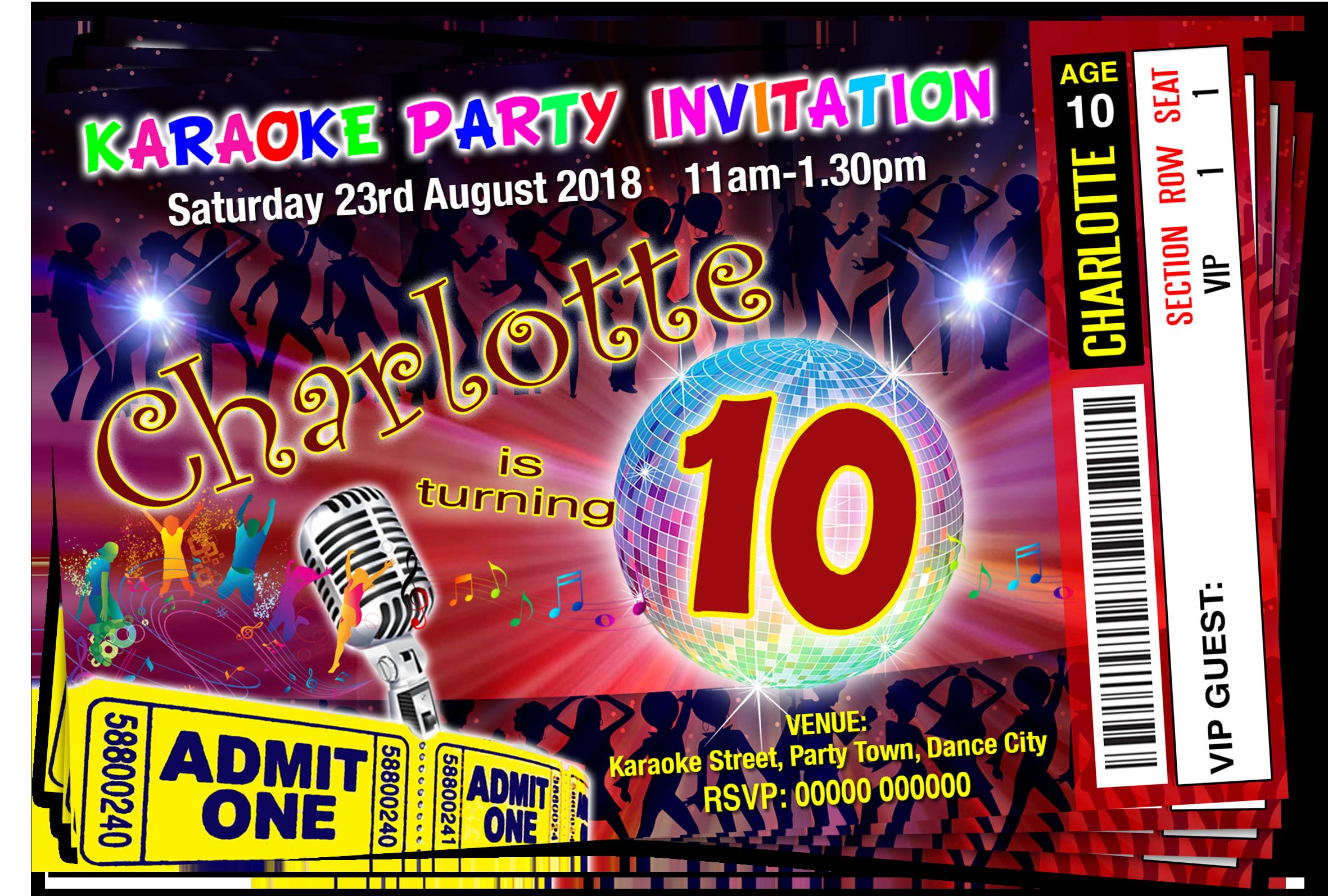 Unique Kids Disco Party Invites Vignette - Invitations and ...