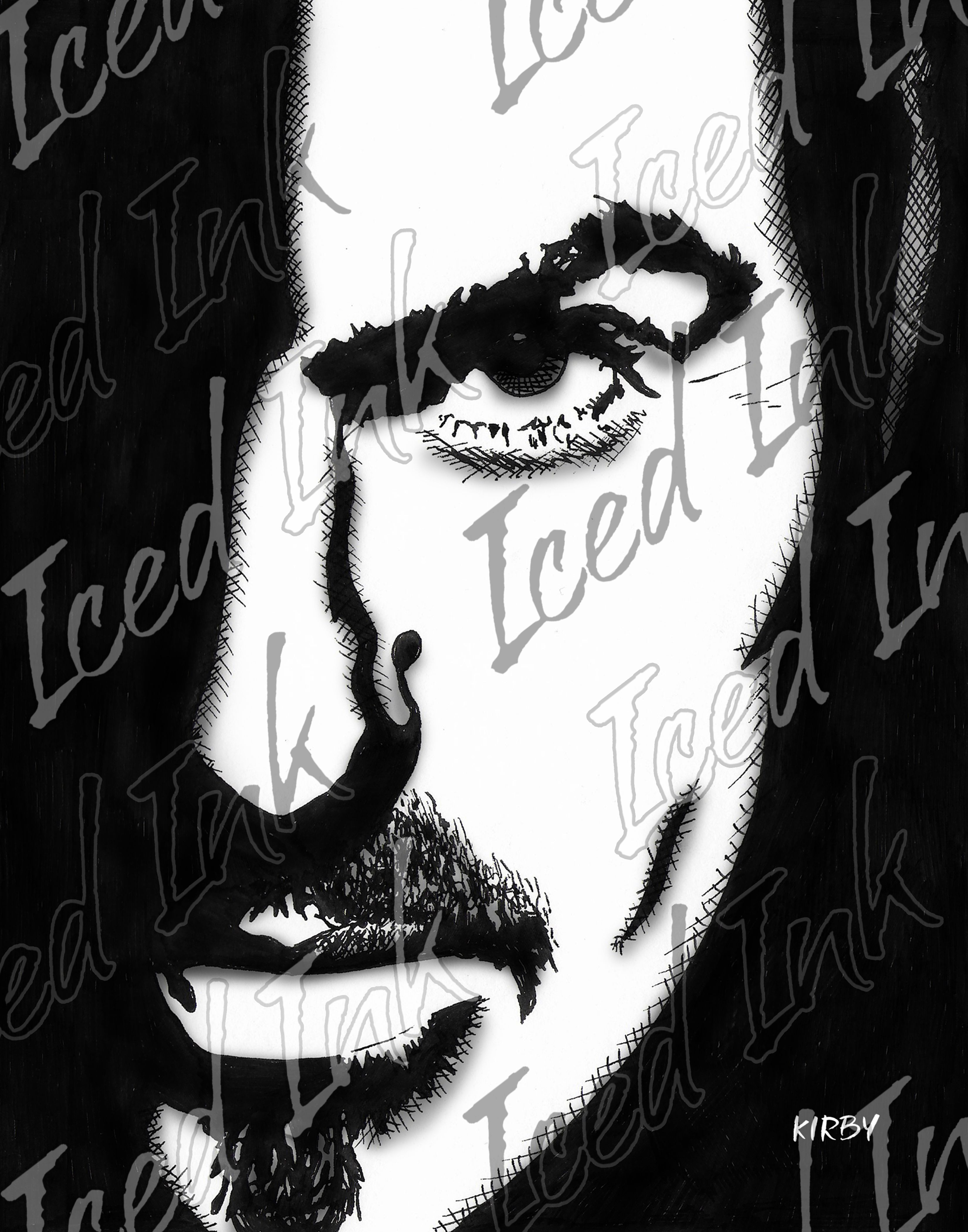 Framed Art Print On Canvas George Michael By Iced Ink George Michael Hand Art Drawing Art Prints