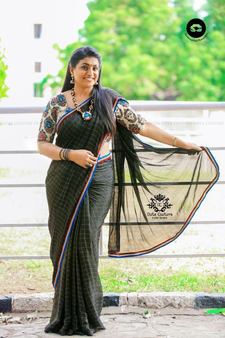 Telugu Actress Roja Latest And In Designer Saree,Actress -6688