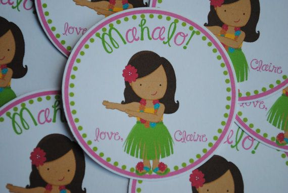 NEW  Mahalo Favor Tags Choose your Hula Girl by mlf465 on Etsy, $6.00