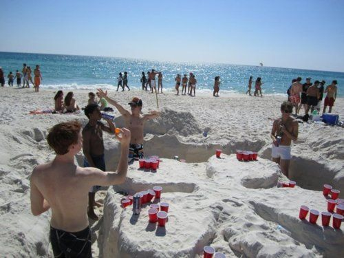 Beer Pong At The Beach