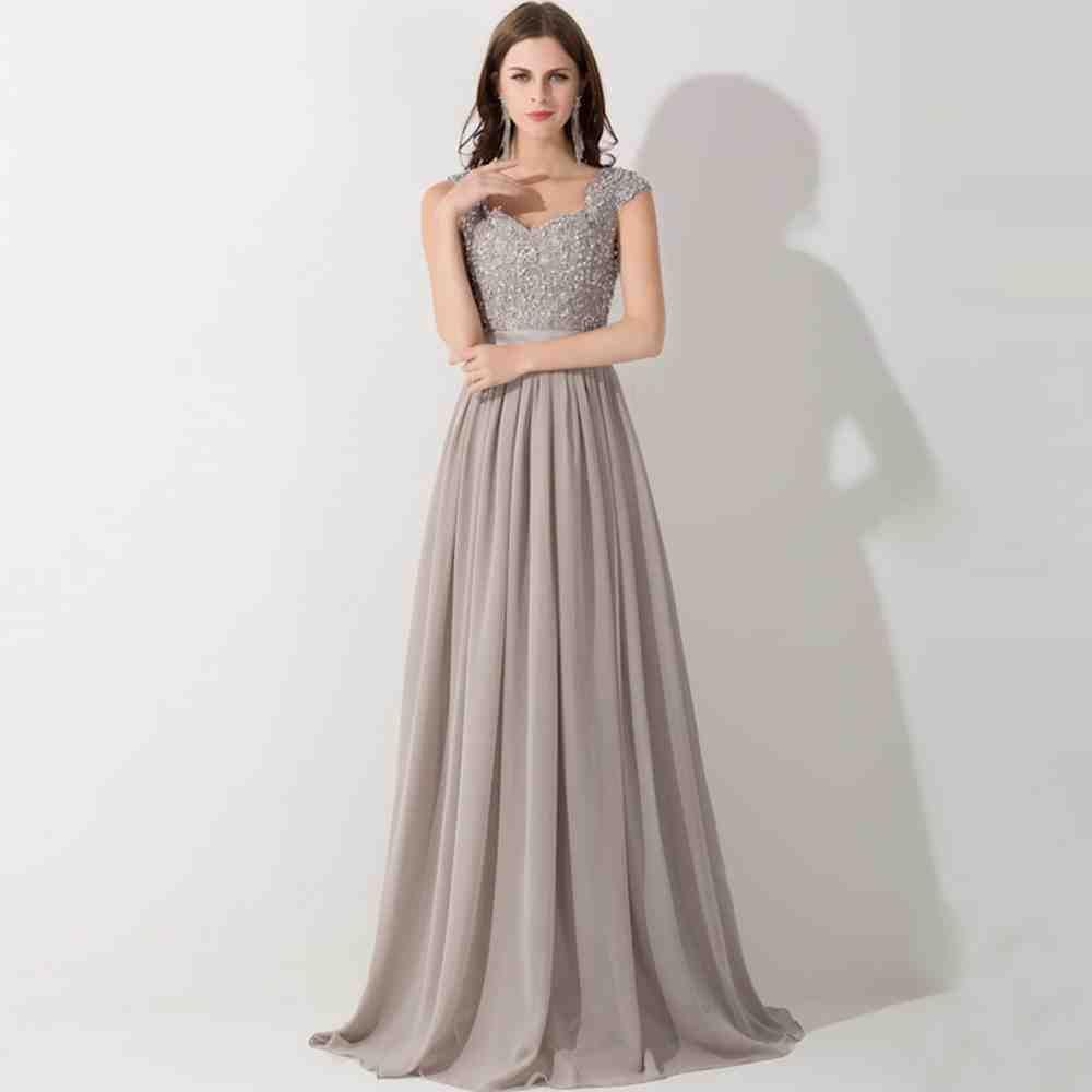 Pewter Chiffon Bridesmaid Dresses | chiffon bridesmaid dresses ...