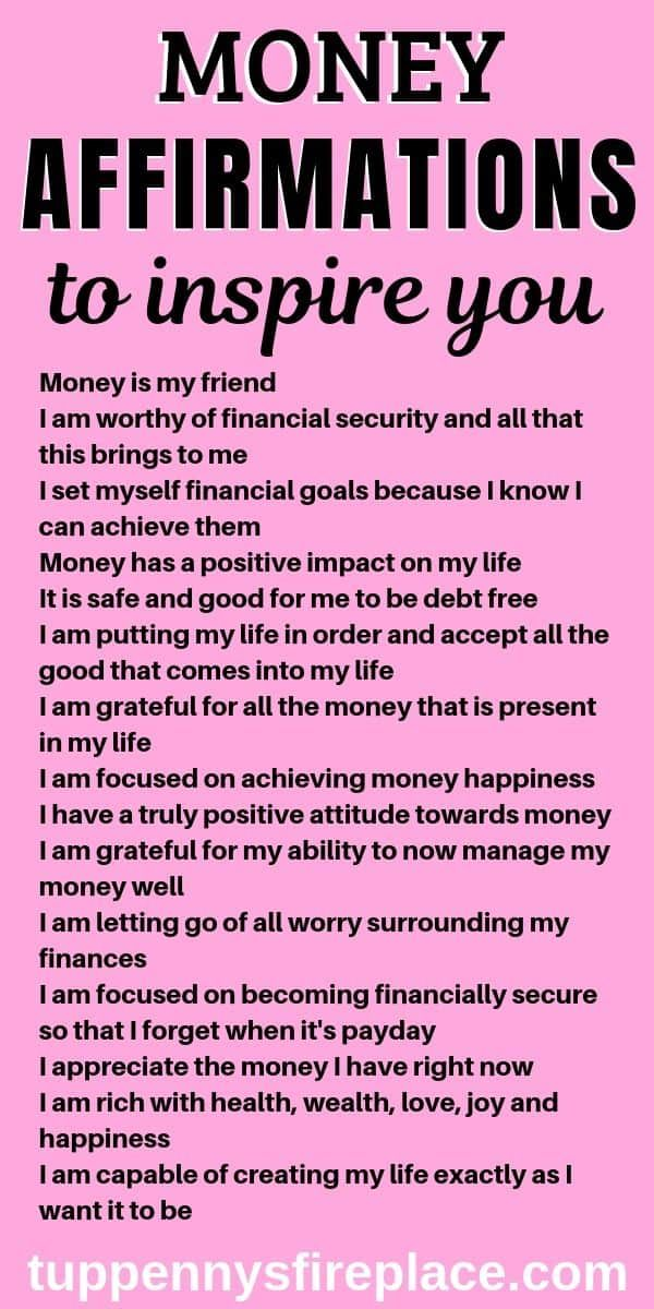 15 Money Affirmations That Will Inspire Your Life | Tuppennys Fireplace