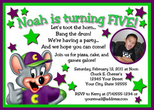 photo regarding Chuck E Cheese Printable Invitations referred to as Chuck e Cheese Birthday Cost-free Printable Birthday