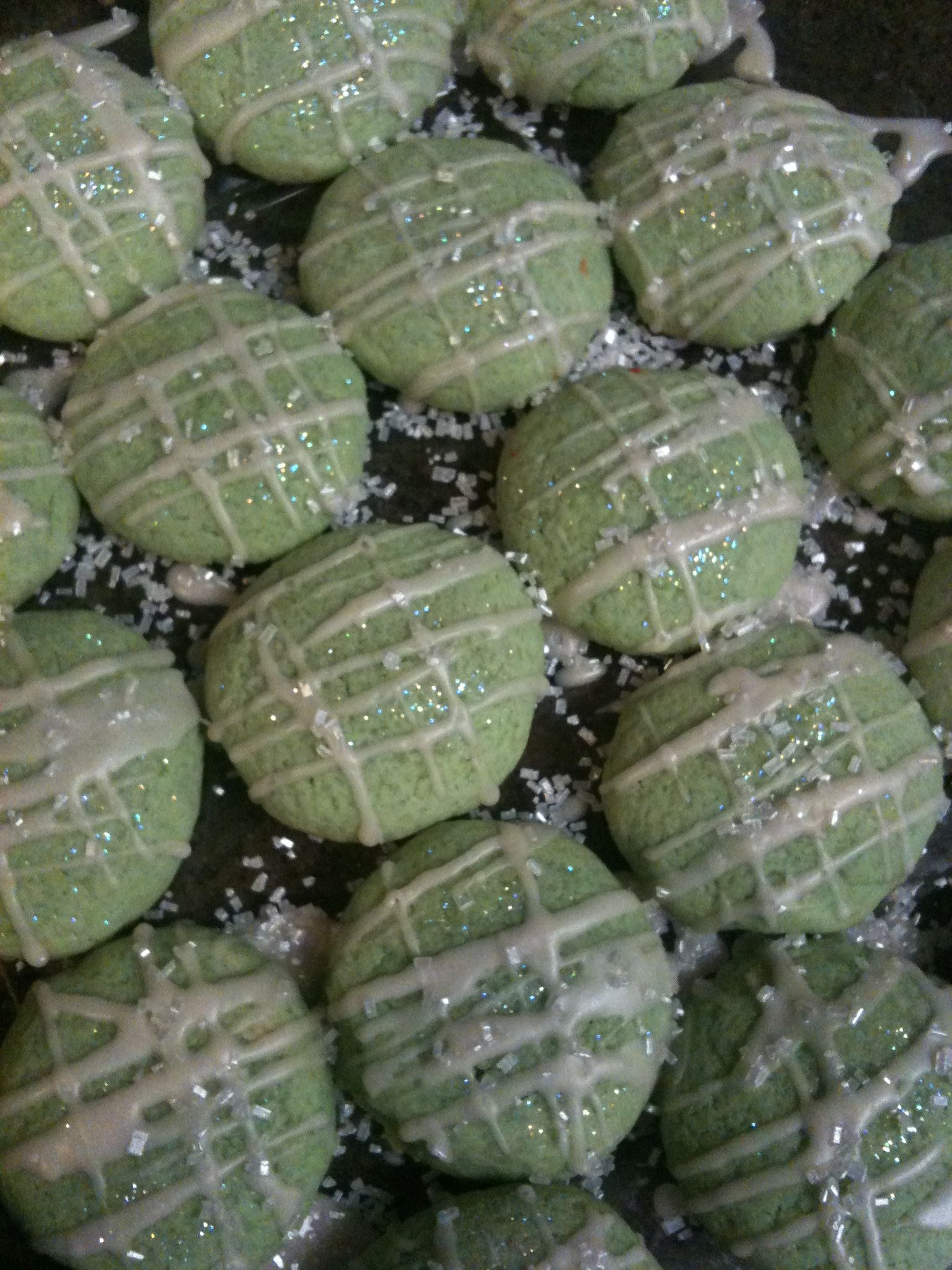 Key lime cookies with a tequila icing glaze