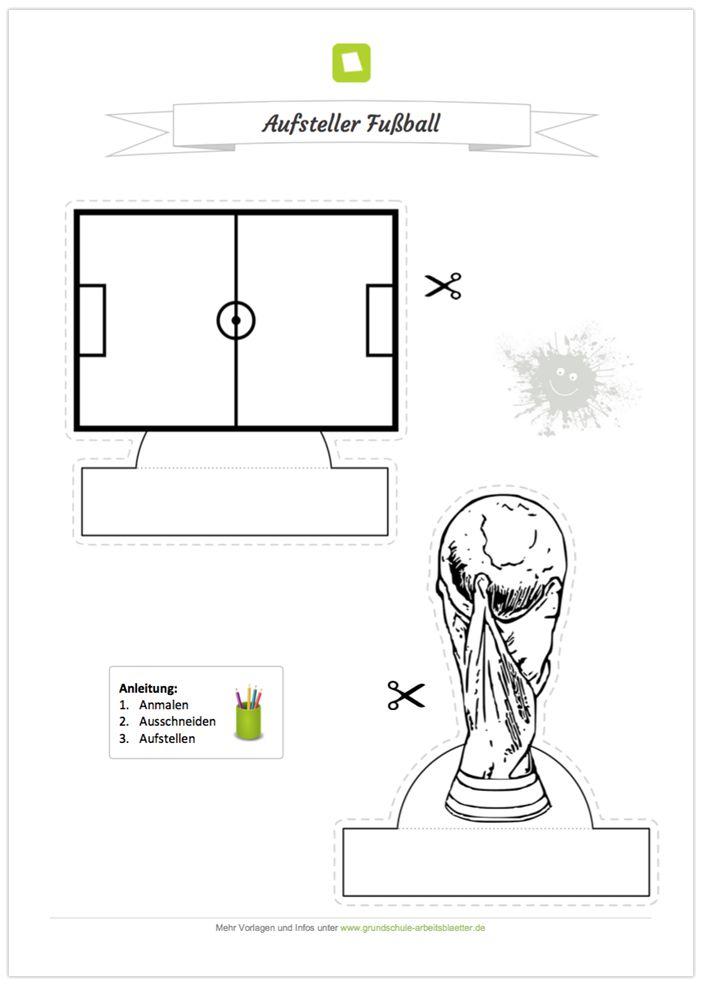 NEU: Ein kostenloses Bastel-Arbeitsblatt zur Fußball WM 2018 in ...