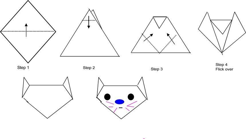 Оригами из бумаги картинки распечатать, днем рождения