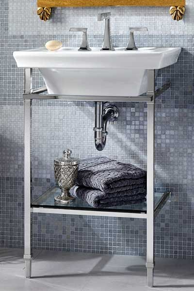 Kitchen And Bath Problem Solvers And Cool Finds Console Sink Dxv Bathroom Console Chrome legs for bathroom sink