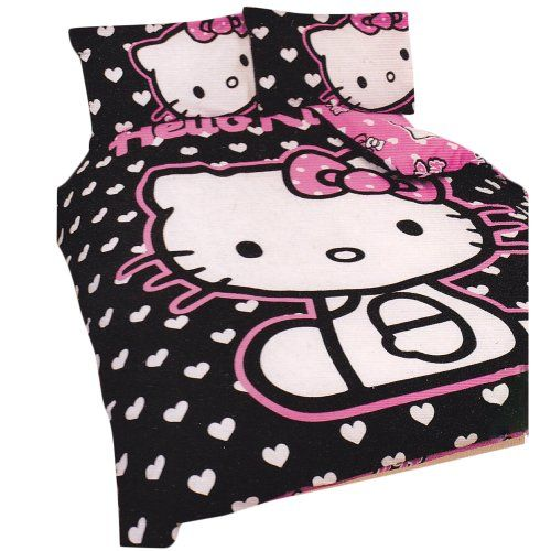Girls Hello Kitty Hearts DOUBLE Duvet/Quilt Cover Bedding