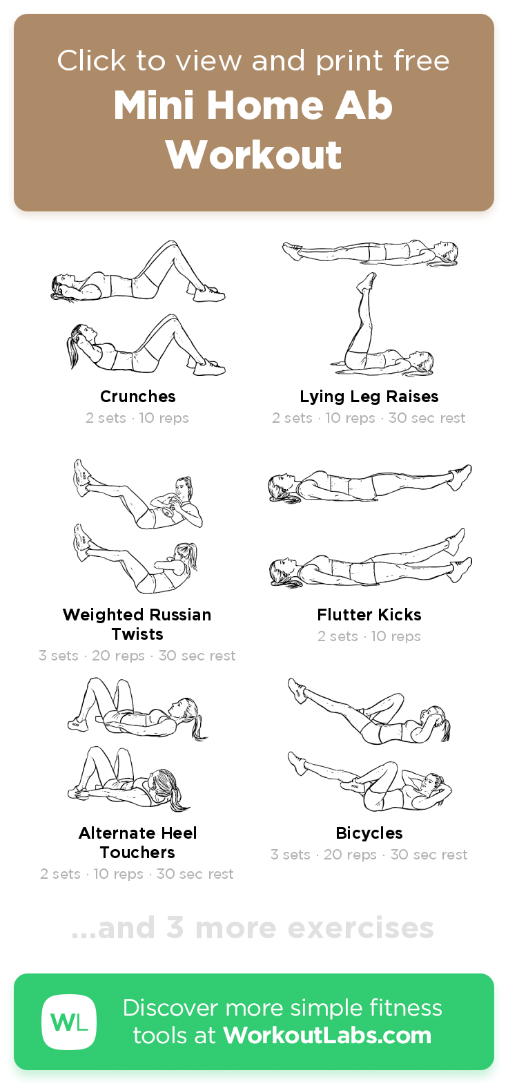 Mini Home Ab Workout · WorkoutLabs Fit