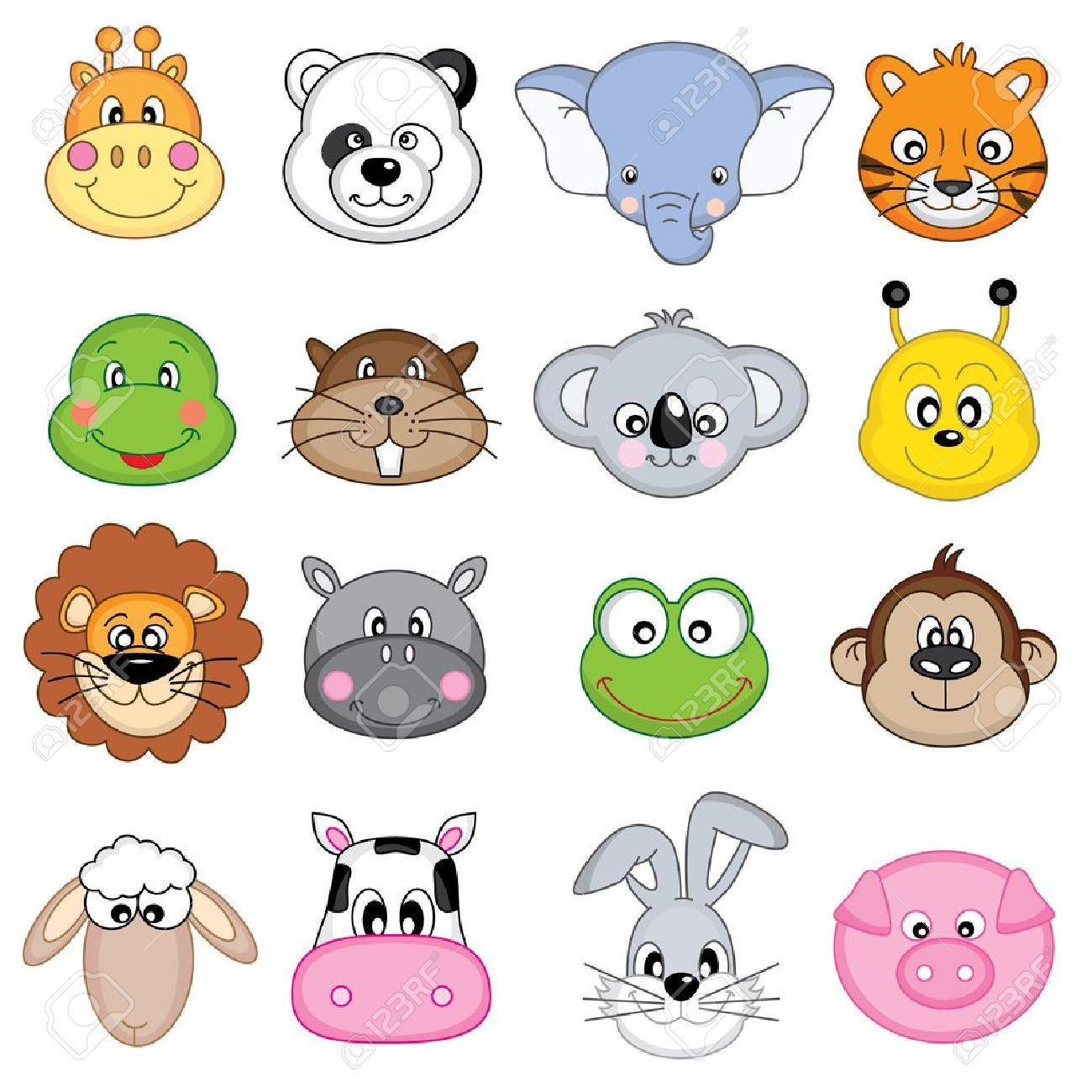 35+ Baby Animal Face Clipart