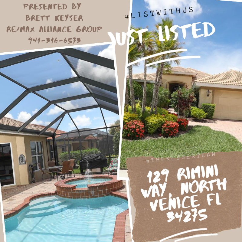 #justlisted We welcome lucky future homeowner's to this little slice of Florida Lifestyle living at the Venetian Golf and County Club North Venice, Florida! This home is located at 129 Rimini Way in North Venice. Come check out this home today! #venicefl #veniceflorida #sarasotacounty #justlisted #brettkeyser #thekeyserteam #comelistwithus #venetiangolf #countryclubvibes #floridalifestyle #weloveflorida #peopleofsarasota #realtor #realtorgoals #realestatelife