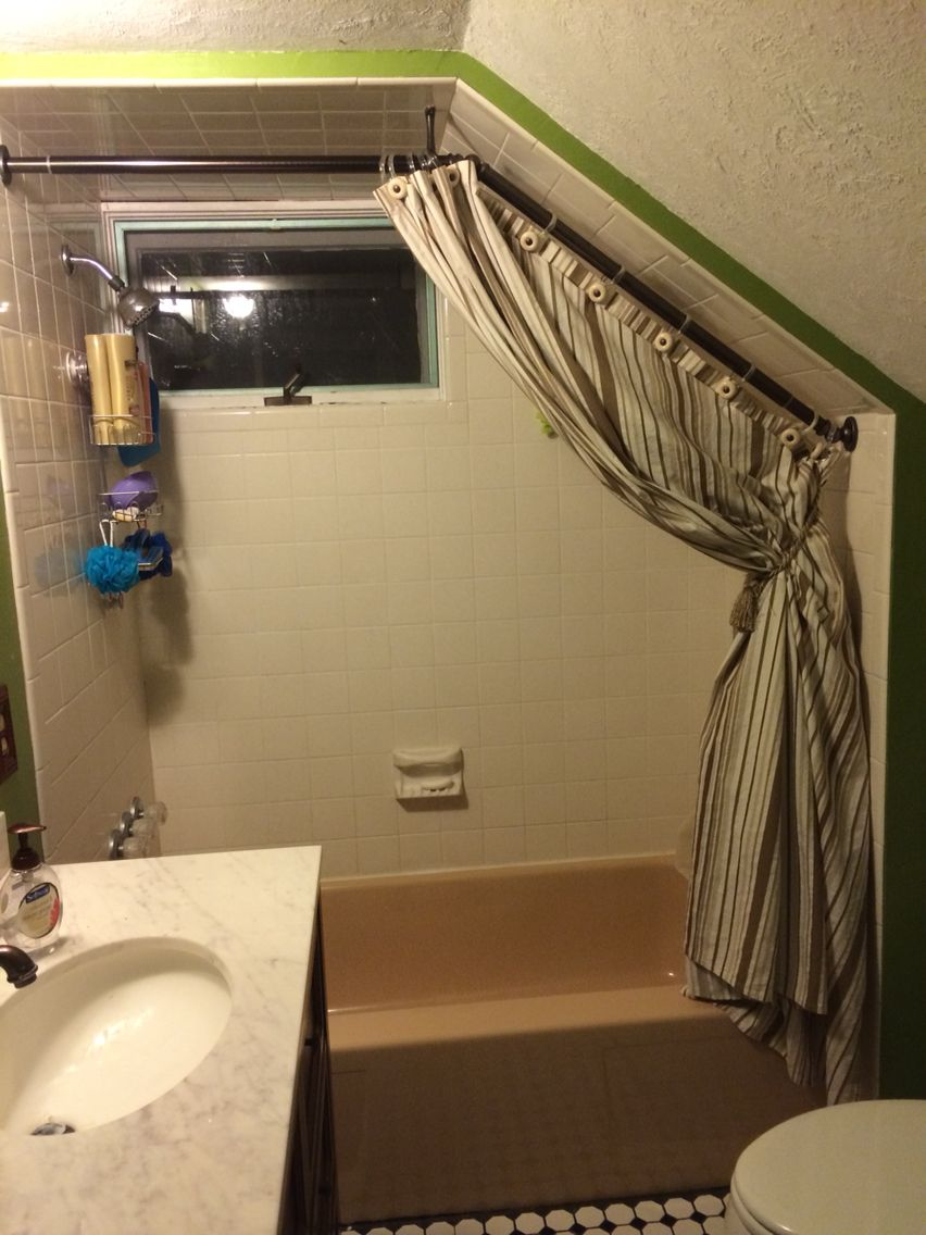 completed curtain rod with opened
