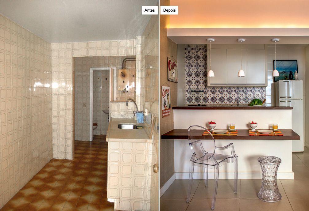 Aparador Buffete Zaiken Plus ~ Balc u00e3o serve como mesa de refeições e aparador nesta cozinha Balcao, Aparador e Balc u00e3o