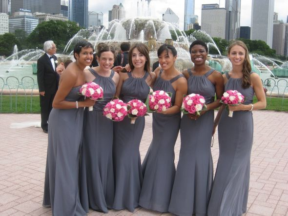 Charcoal Gray and Pink Wedding - wedding wedding planning - gray ...