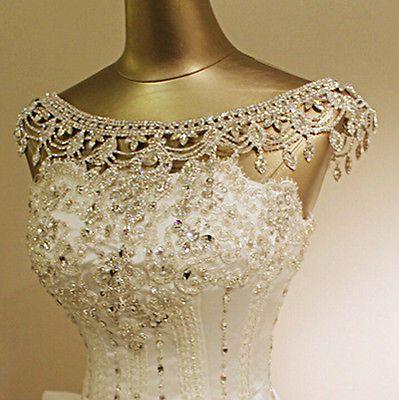 wedding bridal crystal rhinestone shoulder body chain collar