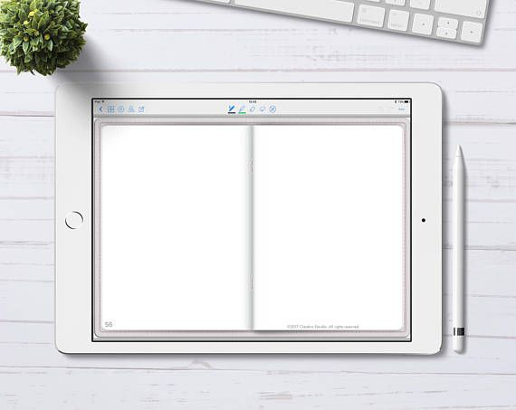 Digital Bullet Journal with blank pages for GoodNotes App, Digital
