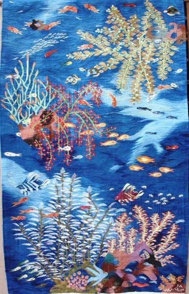 "BG-13, Nagah Ibrahim, ""Coral and Fish"", 2009, Wool"