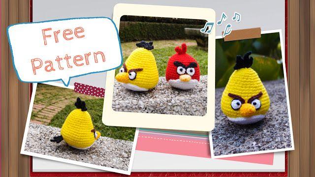 Crocheted Yellow Angry Bird Amigurumi Pattern Haken Dieren