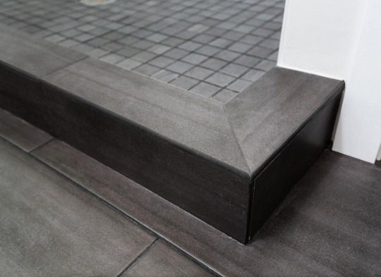 Modern Tile Shower Curb Detail In Fremont Renovation By Paul
