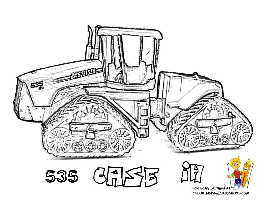 Print Out This Free Tractor Coloring Page! Case Stieger