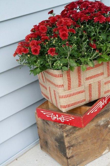 Jute planter from styrofoam igloo