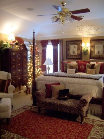 surprising christmas bedroom decorations ideas | My Master bedroom at Christmas - Holiday Designs ...
