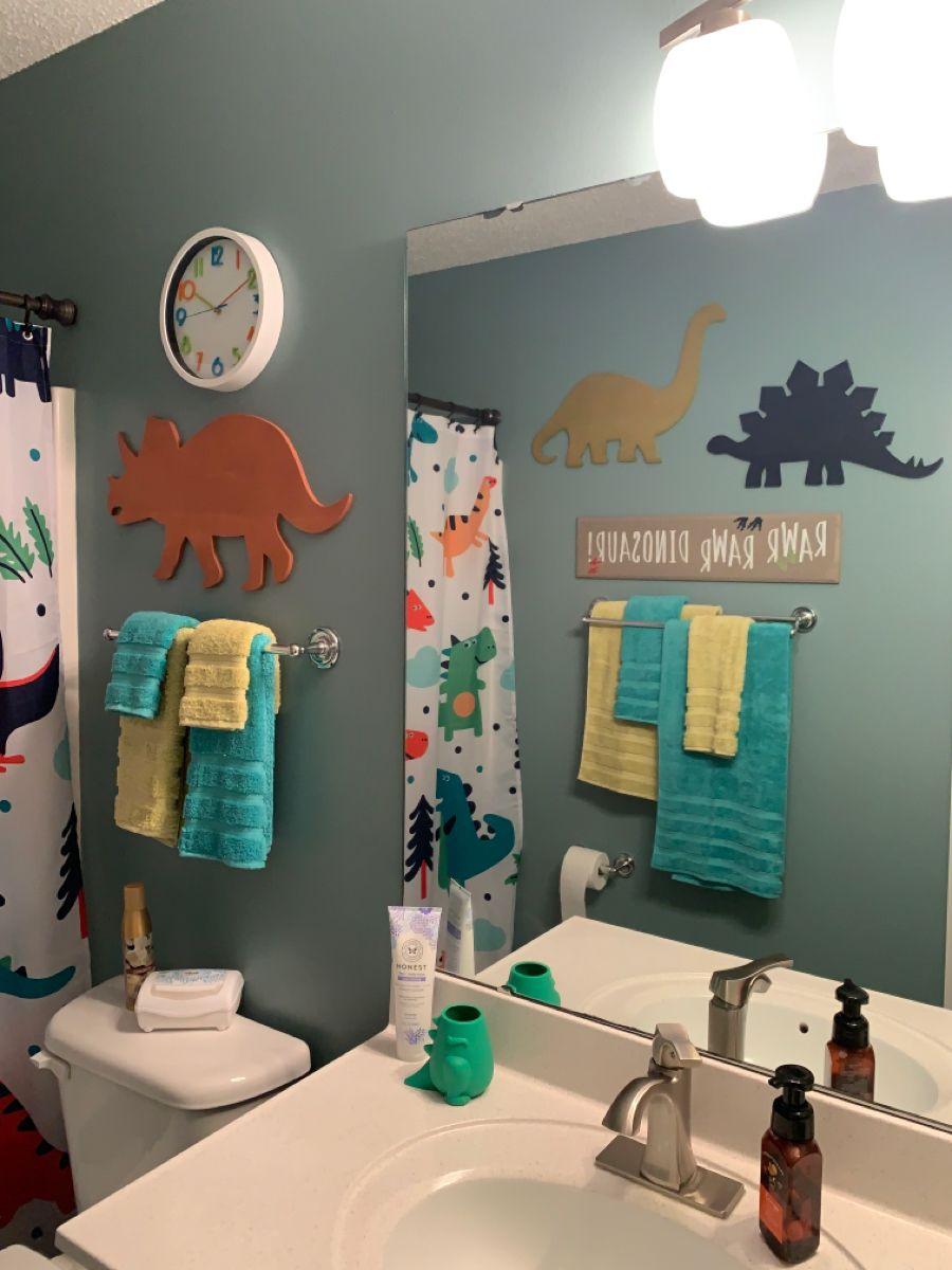 Dinosaur Themed Bathroom Boys Bathroom Decor Boys Bathroom Themes Kids Bathroom Wall Baby boy bathroom decor