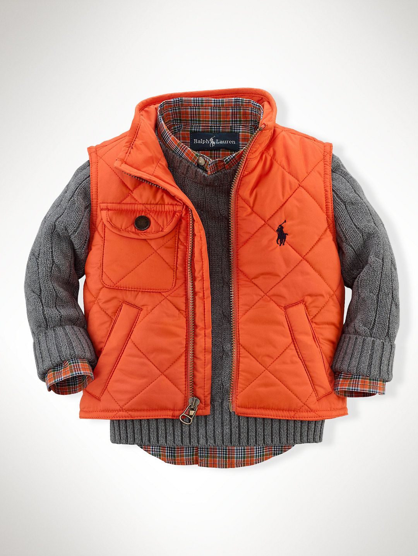 Richmond Pony Bomber Vest Outerwear & Jackets Infant Boy