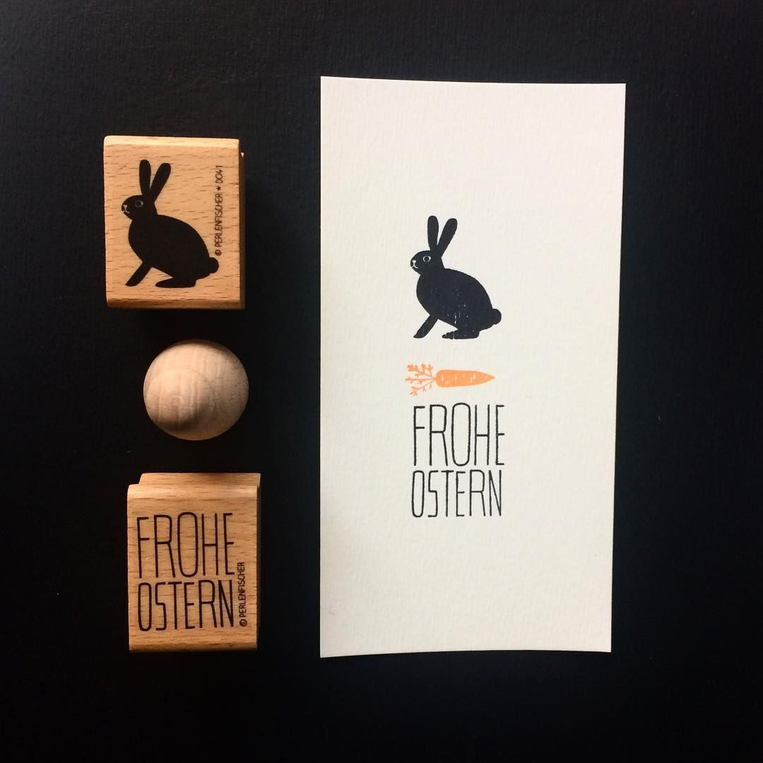 Our bunny loves carrots. #perlenfischer #stempelliebe #carrot #hase #bunny #happyeaster #froheostern #stempel