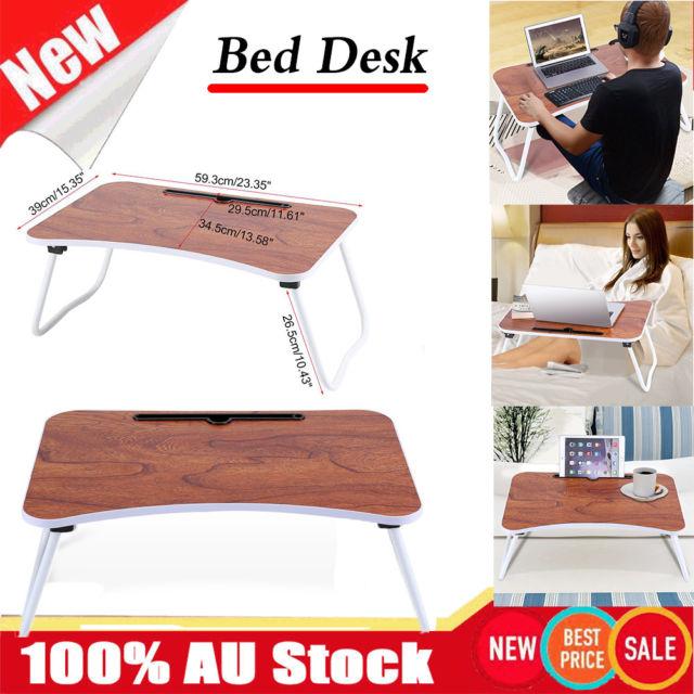 Au Portable Adjustable Folding Laptop Study Desk Sofa Bed Side Table Stand Tray For Sale Online Ebay Study Desk Black Office Chair Adjustable Standing Desk