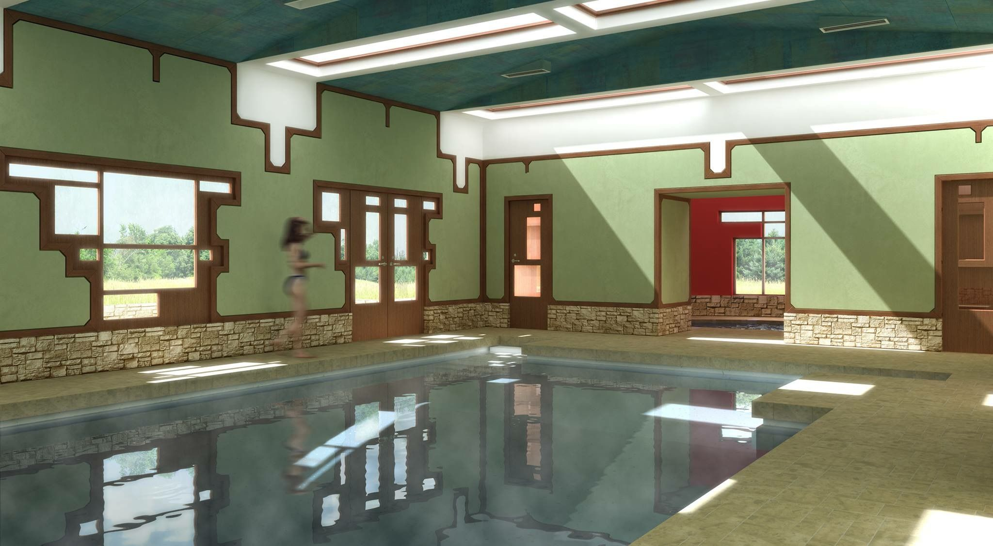Design For An Interior Courtyard Pool By George Ranalli, Architect