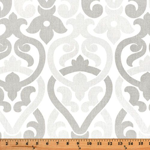 Premier Prints Alex French Grey Damask Home Decorating Fabric at Texas Susannie's