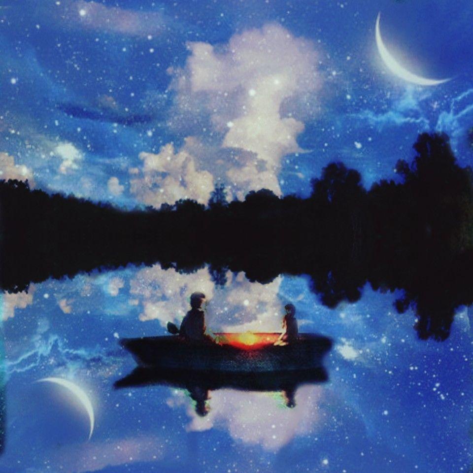 Animasi Dark Night With My Girlfriend Malam Yang Indah Bersama Ayah Fotografi Alam Ilustrasi Alam Langit