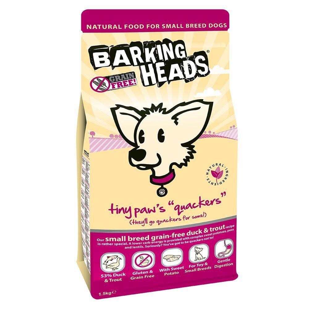 Barking Heads Dog Food Tiny Paws Quackers Grain Free1 5kg To