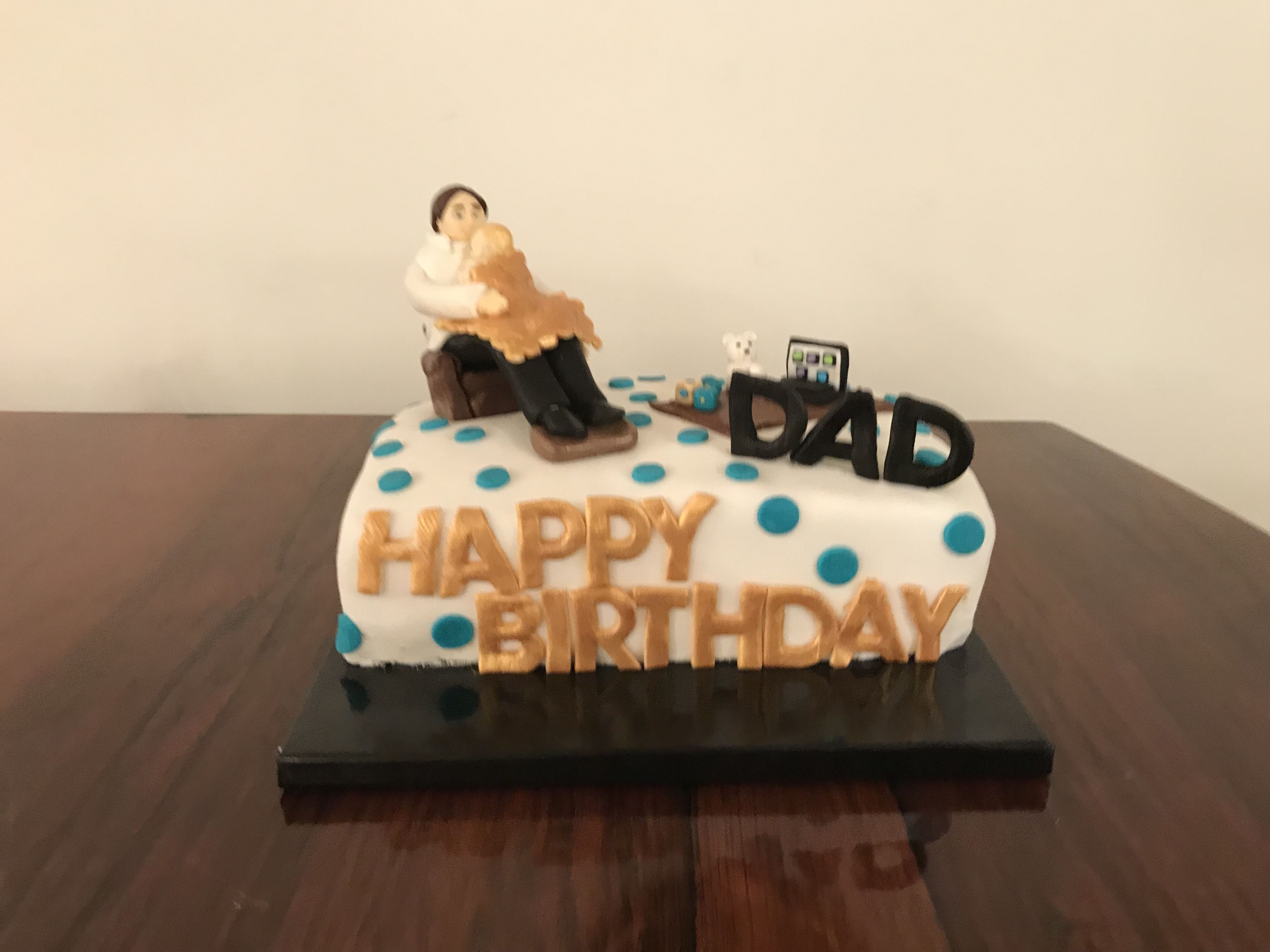 Happy Birthday Dad Cake By Noodys Baby And Dad Parent Cake New Born