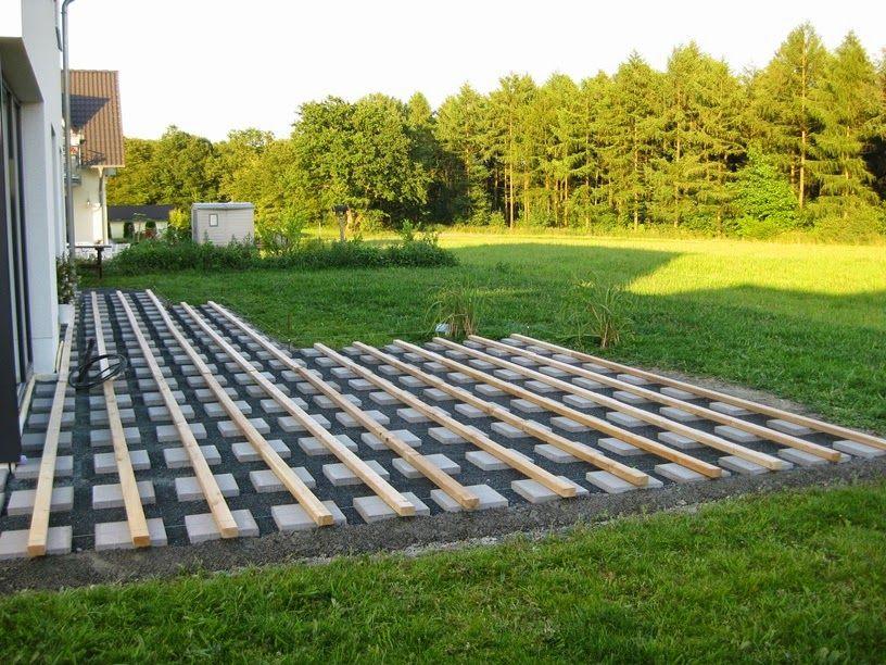 Marios Werkstatt Hausprojekt Terrasse Teil 2 In 2020 Garten Landschaftsbau Holzterasse Garten Hintergarten