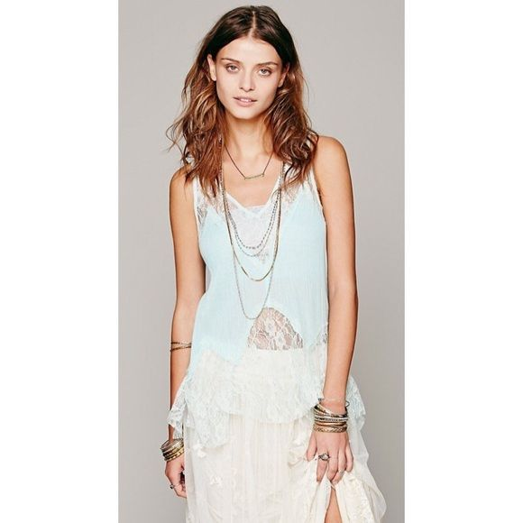 Free People Mint Lace Tank Prices are firm unless bundled No swaps, models, or reserves -- sorry! Free People Tops Tank Tops
