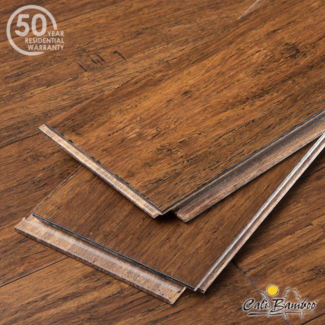 Antique Java Narrow Plank Click Lock Bamboo Flooring