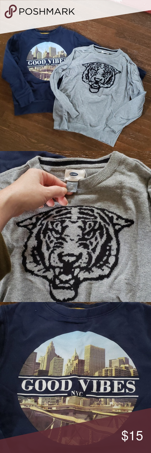 a17438b25 Cool Kids Sweatshirt & Sweater Tiger sweater by Old Navy. Size 8. In  excellent