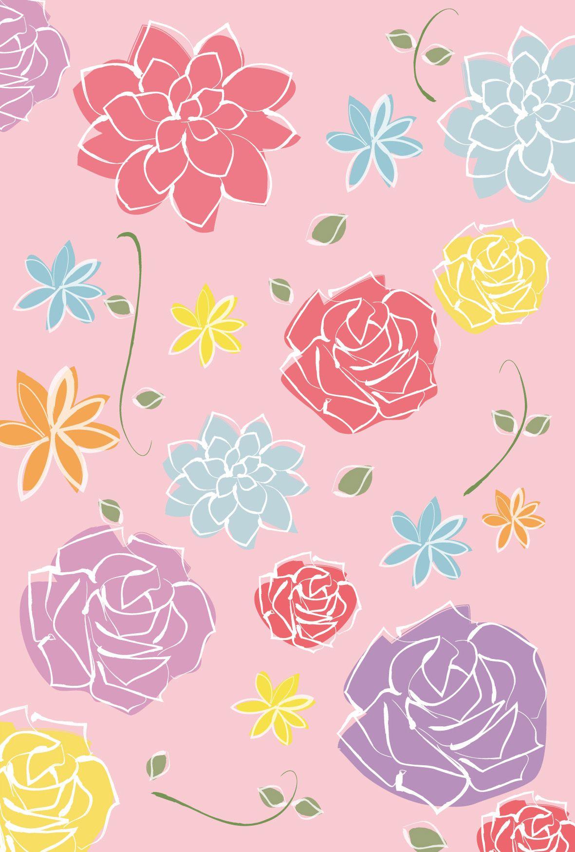 ウェディング 花模様2 ダウンロード かわいい無料イラスト 印刷素材 Net カード イラスト ウエディング カード 結婚 メッセージカード