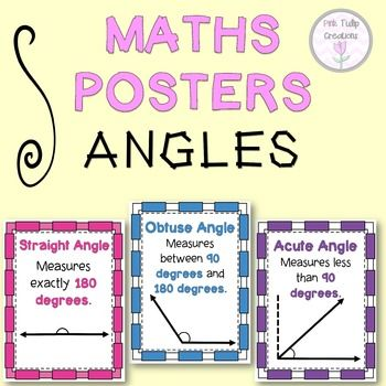 Math Angles Posters Classroom Display Classroom Displays Math Teaching Homeschool