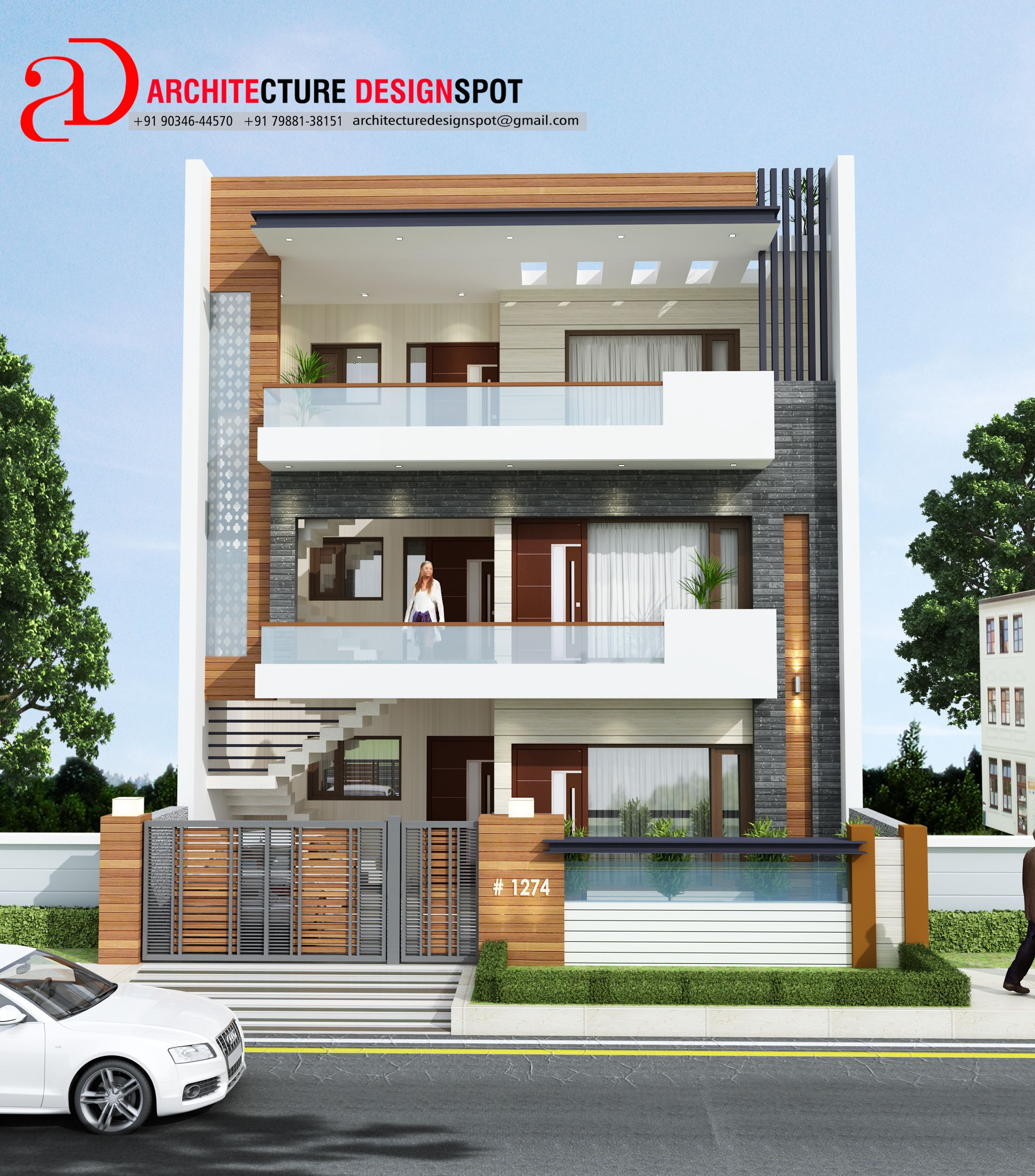 MODERN FACADE DESIGN WITH SIMPLE CONCEPT AT MOHALI BY AR