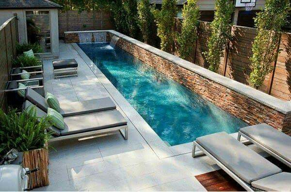 Along wall pool