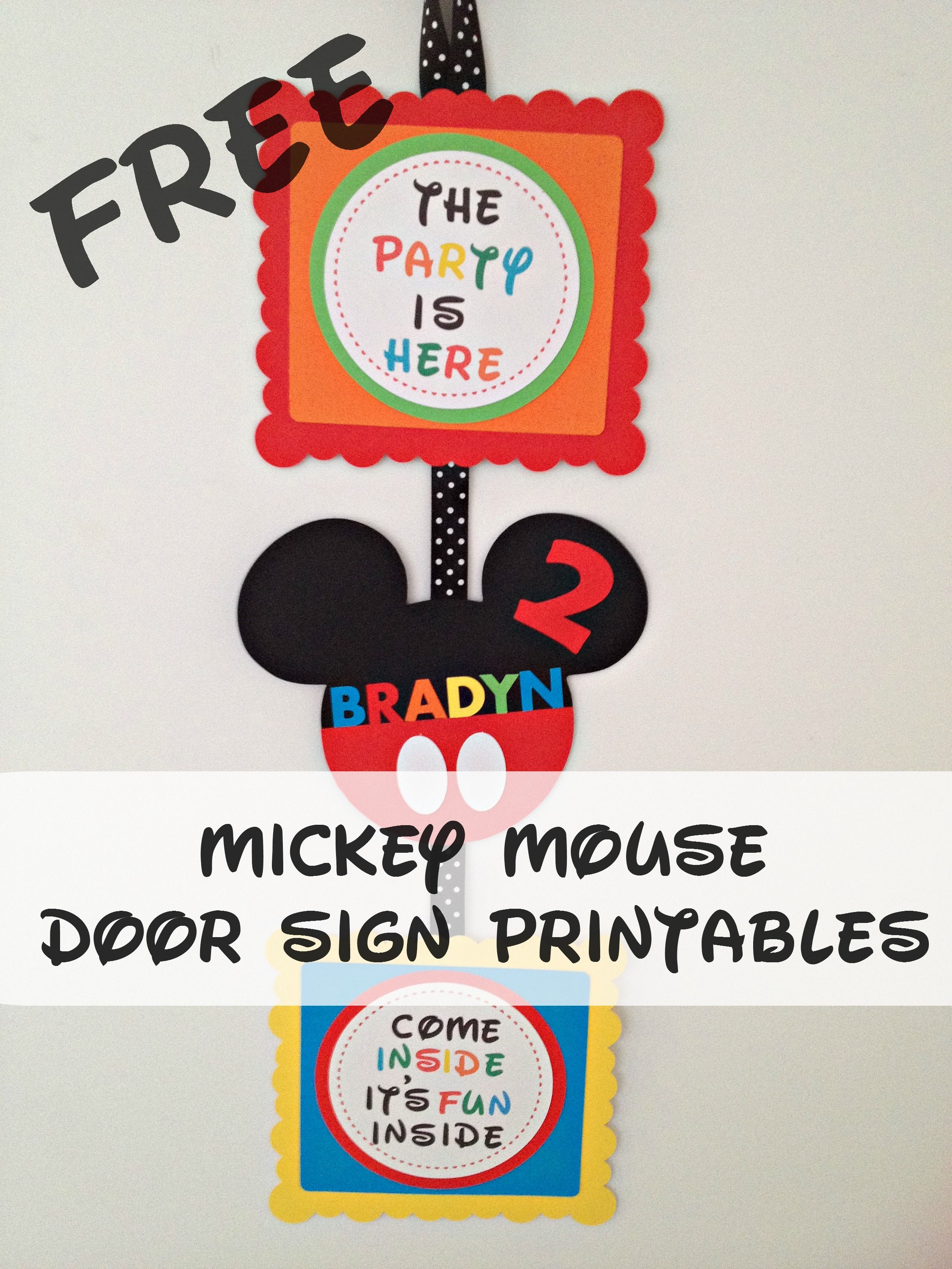 picture about Come Inside It's Fun Inside Free Printable named How in direction of create a Mickey Mouse Encouraged Get together Doorway Signal with