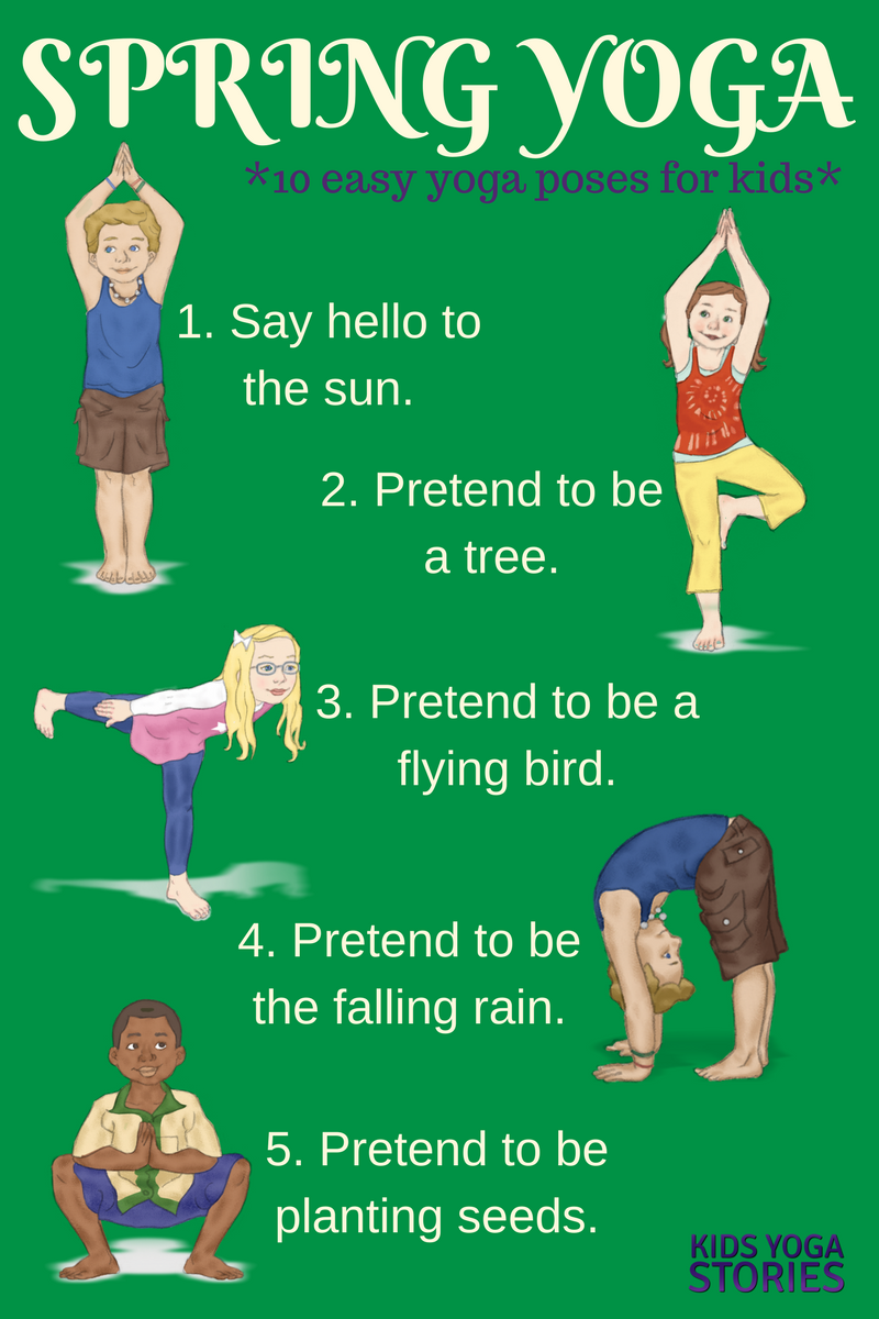 Yoga For Spring Printable Poster Yoga For Kids Kids