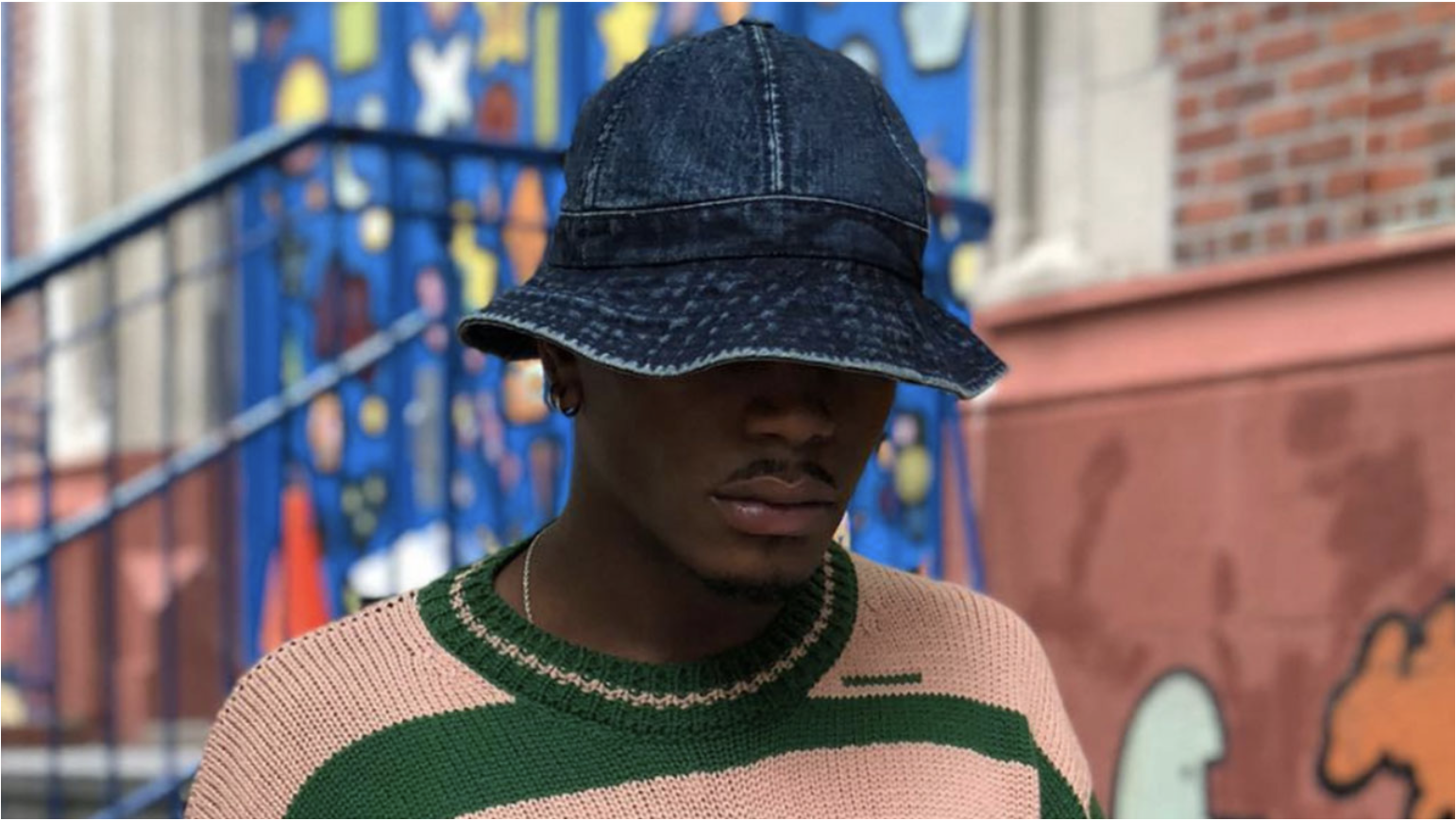 0c9d82139f84c Denim bucket hat worn by Instagram model  wvrio