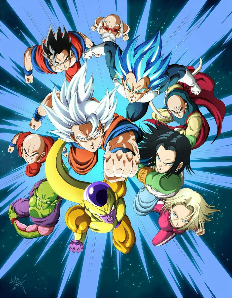Team Universe 7 Dessin Goku Sangoku Anime
