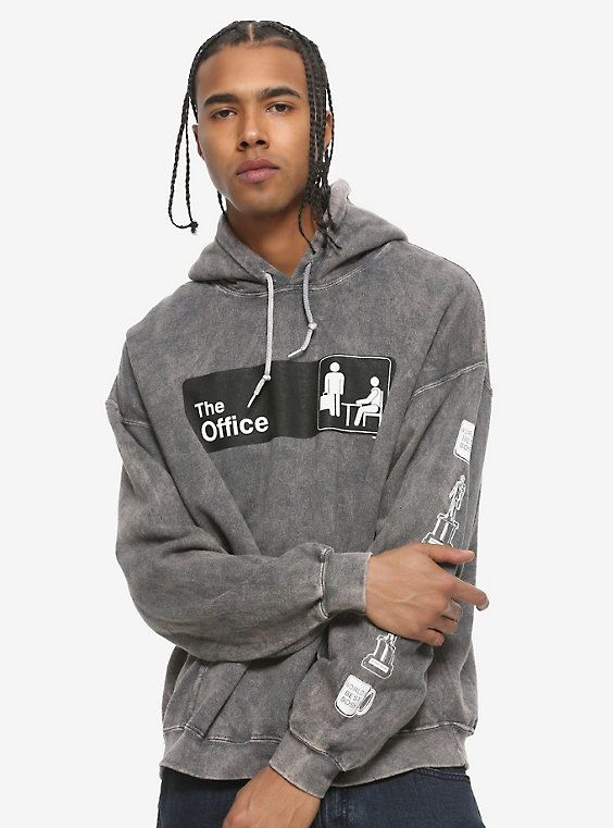 The Office Logo Washed Hoodie in 2020 | Hoodies, Black and ...