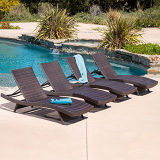 Christopher Knight Home Toscana Outdoor Brown Wicker Lounge (Set Of 4)  Http:/